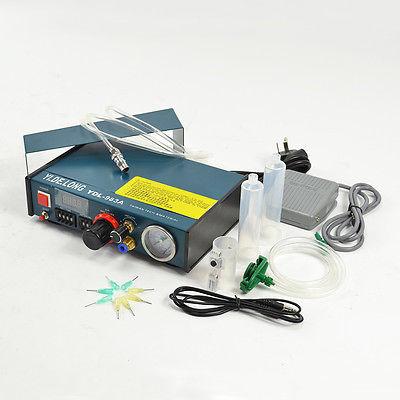 983A AUTO GLUE DISPENSER SOLDER PASTE LIQUID CONTROLLER DROPPER klt 982a solder paste glue dropper liquid auto dispenser controller black