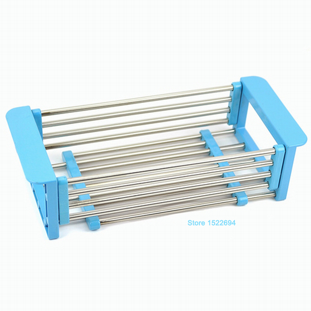 Awesome Adjustable Over The Sink Colander Dry Rack Pro Kitchen Sink Dish Drainer  Rack Collapsible Over Sink