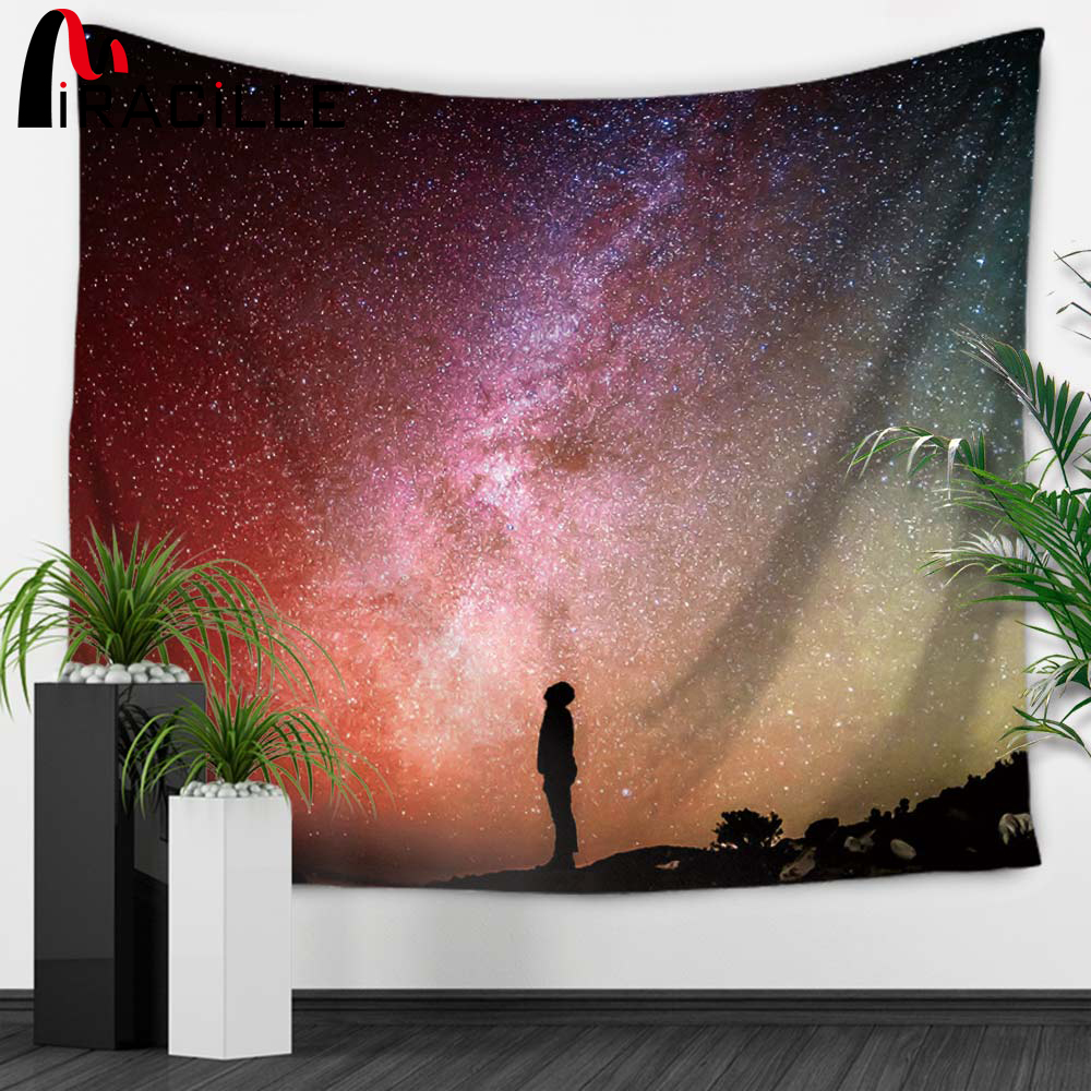 Amazing Us 8 59 45 Off Miracille Starry Stars Sky Tapestry Wall Hippie Throw Gypsy Boho Dorm Bedspread Table Cloth Sofa Chair Cover Scenery Decoration In Cjindustries Chair Design For Home Cjindustriesco