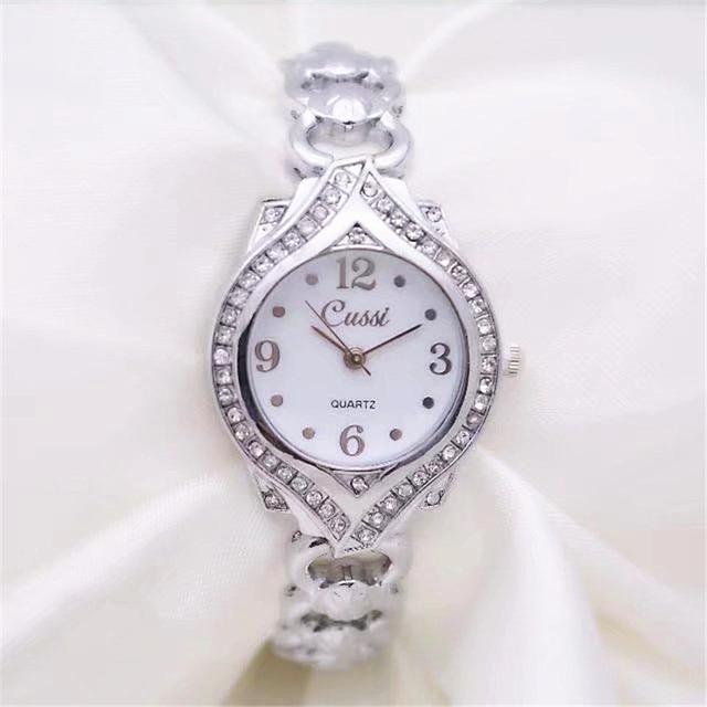 CUSSI 2018 New Luxury Diamond Womens Bracelet Watches Ladies Dress Watch Quartz