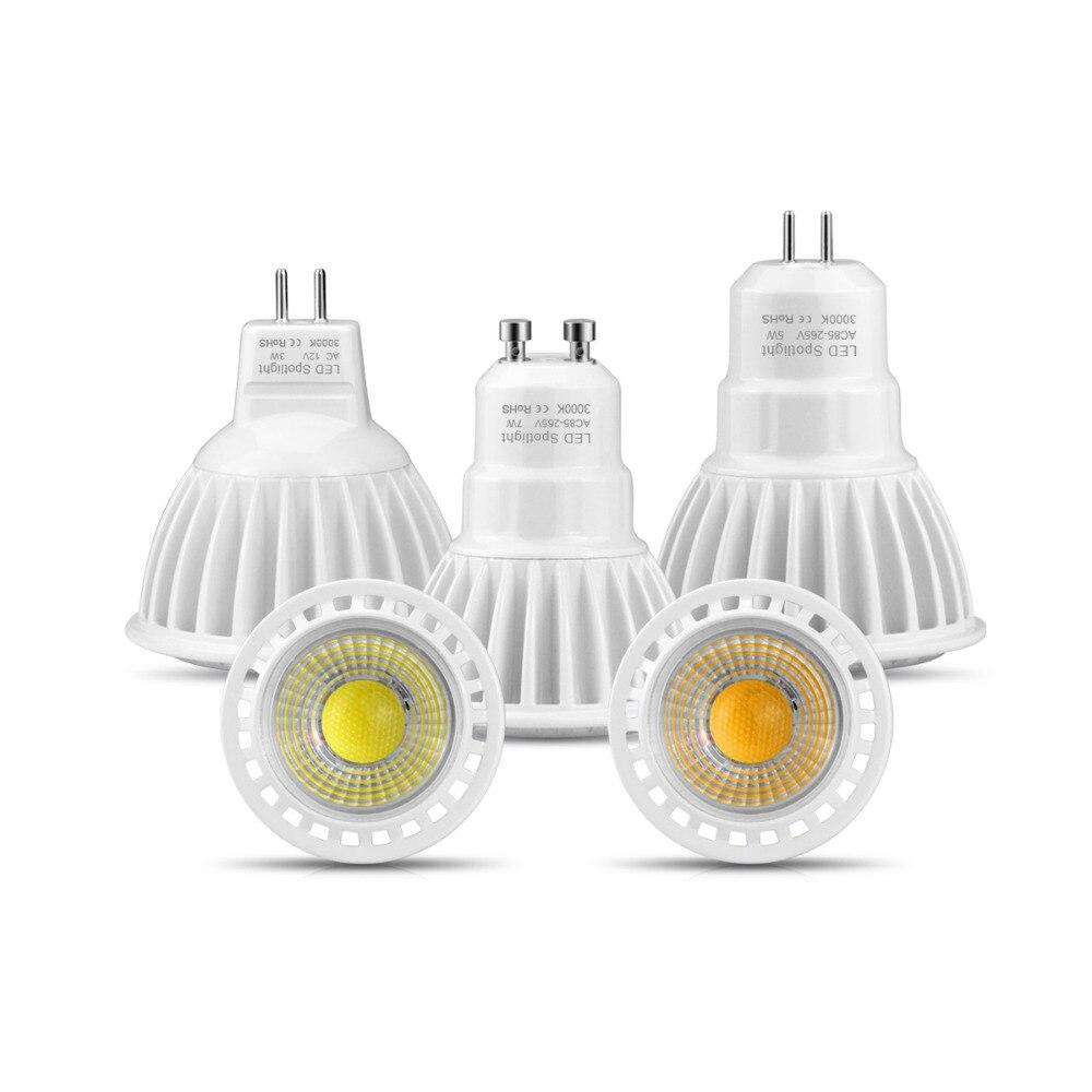 Aluminum Dimmable Led Lamp Spotlight Mr16 12v Ac/dc 12v Gu10 Gu5.3 Ac 85v 265v 110v 220v 3w 5w 7w Cob Ceiling Chandelier Bulb Removing Obstruction Led Bulbs & Tubes