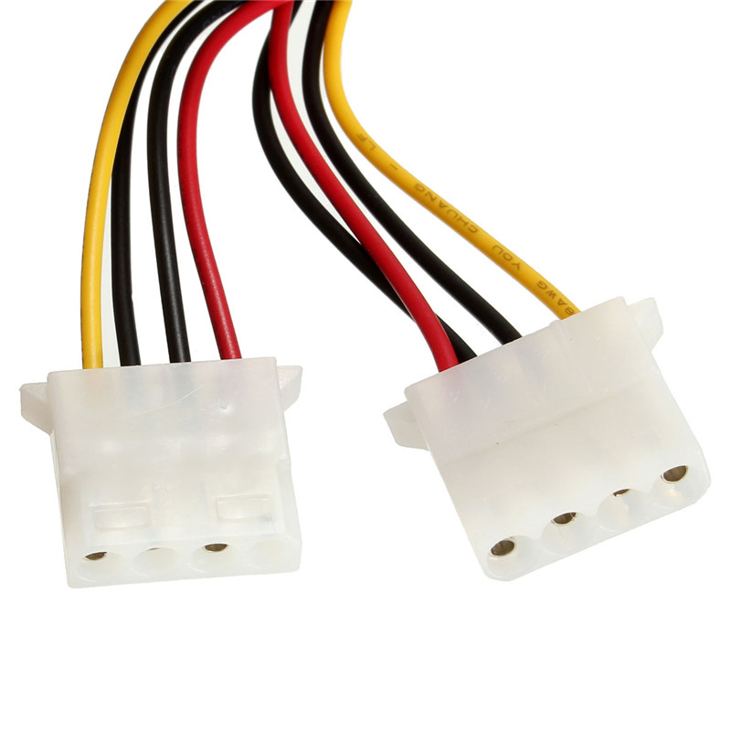 New Arrival Male 4Pins to Female 2x IDE 4Pins 5.25 HDD Power Adaptor Cable Lead Wire For PC Computer Cables