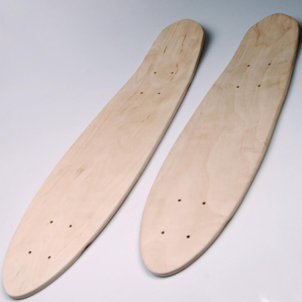 24/27 Inch 7-Layer Maple Blank Skateboard Deck Skate Board Concave Kick Decks Skate Board Rough Sandpaper For Longboard DIY Part