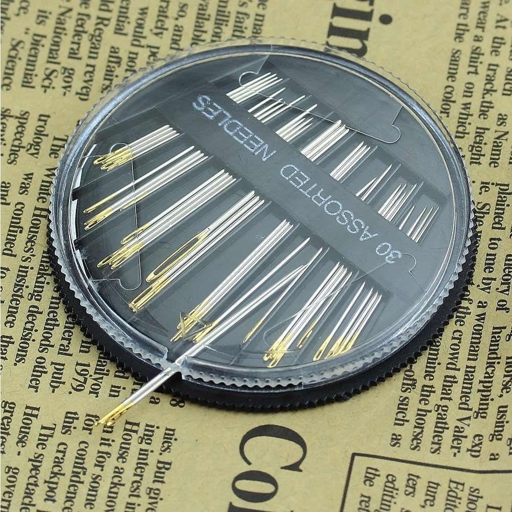 30PCS Durable Assorted Hand Sewing Needles Embroidery Mending Craft Quilt Sew Case