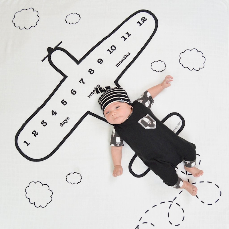 все цены на Airplane Design blanket For Newborns photography baby blankets Props Toddler Baby photography Accessories props Months blanket