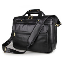 Vintage Men Briefcase Genuine Leather Business Handbag Two Layers Big Space Multi-function Bag Fit For 15 Inch Laptop PR067146