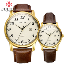 Modern Classic Men Women Wrist Watch Couple Lover Pair Watches Valentine Birthday Gift Auto Date Quartz Hour Clock Reloj JA-508M