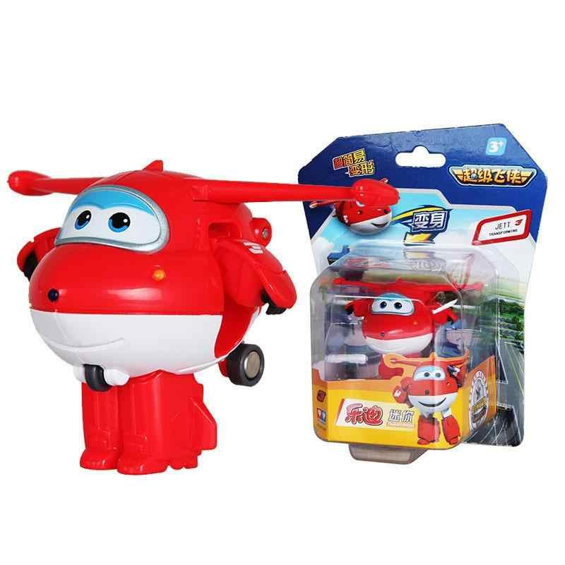 12 stijl Mini Super Vleugels Vervorming Mini JET ABS Robot speelgoed Action Figures Super Wing Transformatie speelgoed voor kinderen gift
