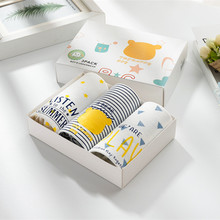 Children Pure Cotton Straight Angle Underpants Cartoon Male Baby Four Shorts In Will Child Full Boxed