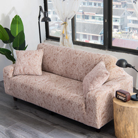 Lellen Knitting fabric thicken sofa Cover elastic Print floral super soft seat removable couch chair covers stretch Double seat