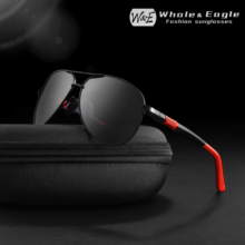 W&E Pilot Sunglasses Metail Frame Polarized Brand Classic Goggles Fishing Driving Sun Glasses For Men Women UV400
