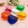 Five Color Compact Colorful Dental Orthodontic Retainer Box/Case mouthguards biteguards dentures Sport Guard