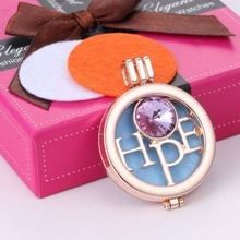 Hope Coin Disc Women Perfume Fragrance Necklace Jewelry Gold Plated Essential Oil Aromatherapy Diffuser Necklace For Women