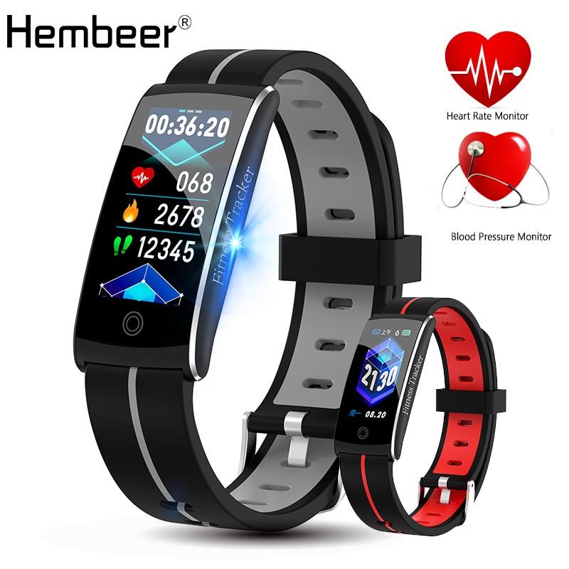 Hembeer H10C Braccialetto Intelligente IP68 Nuoto Impermeabile Banda Heart Rate Monitor di Pressione Sanguigna Orologio di Allarme Orologio Ore pk Fitbits