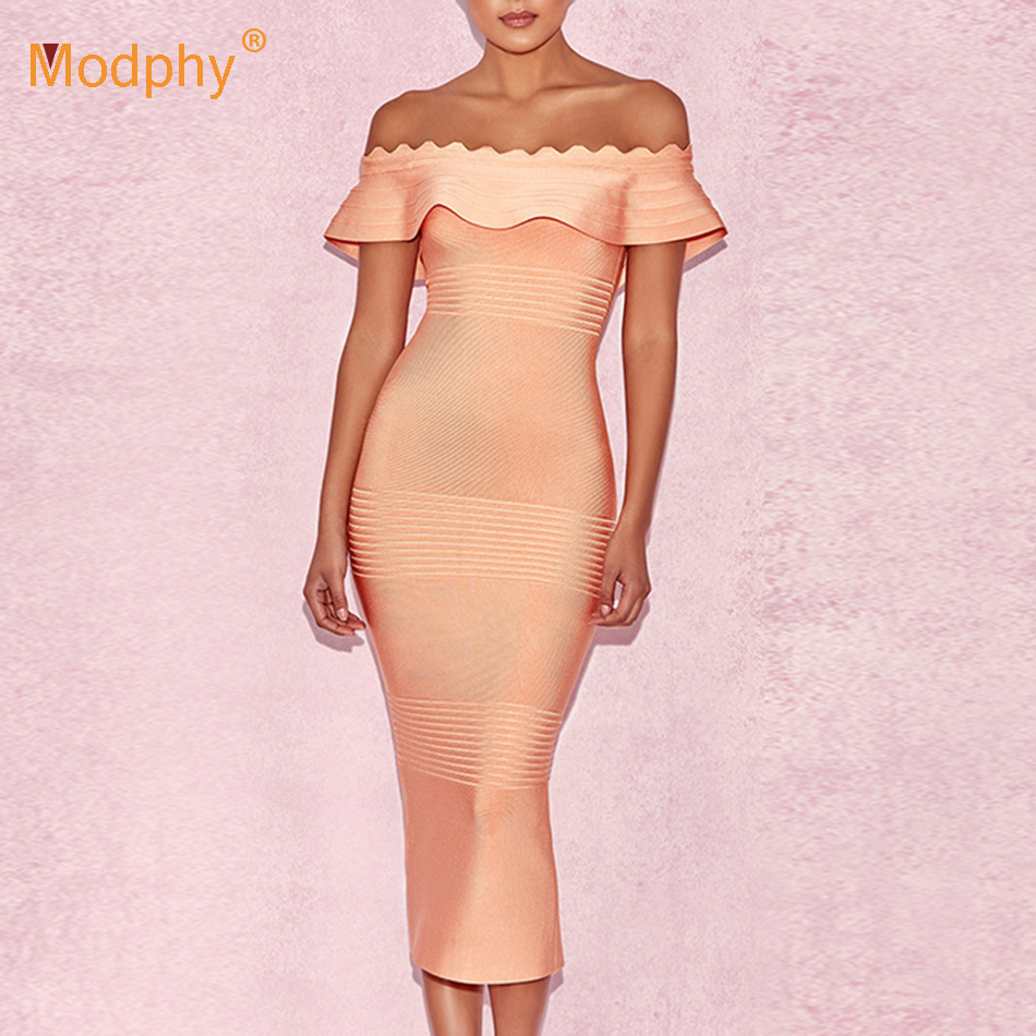 2019 Summer Strapless Bandage Dress Sexy Red Sleeveless Off-Shoulder Ruffle Dress Bodycon Vestidos Club Costume Party Dress