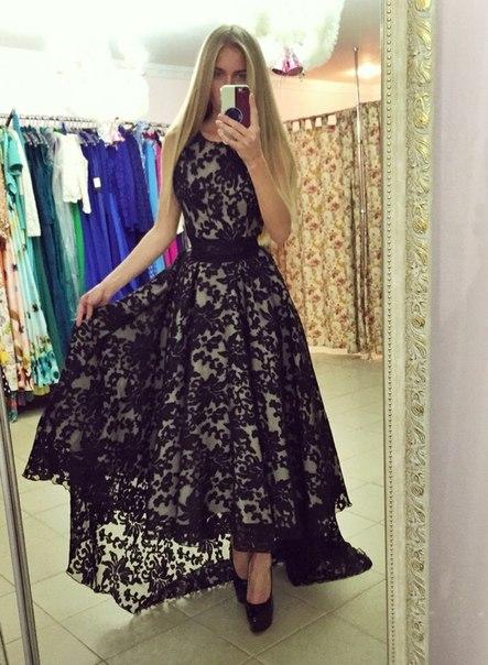 Ivory Black vintage Lace High Low   Prom     Dresses   2017 O- Neck Sleeveless Short Front Long Back   Prom   Gowns Vestidos De Festa