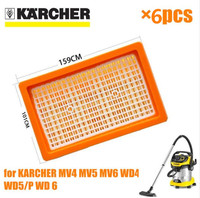 China Post 6 Pcs Lot Air HEPA Filters For Karcher 2 863 005 0 MV4 MV5
