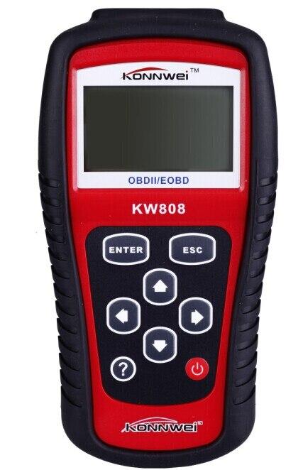 Цена за Диагностический Инструмент KONNWEI KW808 OBD2 Сканер/EOBD Авто CODE Reader работа для США, азиатские и Европейские автомобили kw808scanner Автомобильной