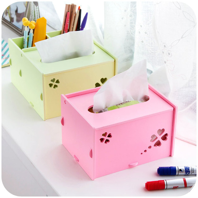 WPC board Clover Hollow tissue box pumping tray, living room coffee ...