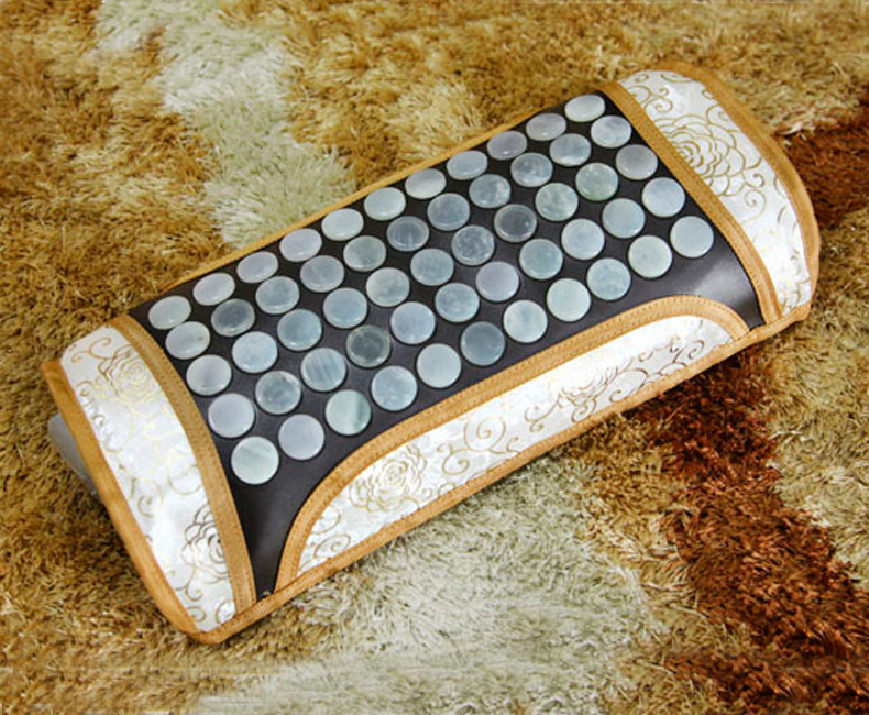 Korea Natural Jade Cushion Germanium Stone Tourmaline Heated Pillow Jade Health Care Physical Therapy Pillow Free Shipping korea natural jade cushion germanium stone tourmaline heated mat jade health care physical therapy mat 150x50cm free shipping