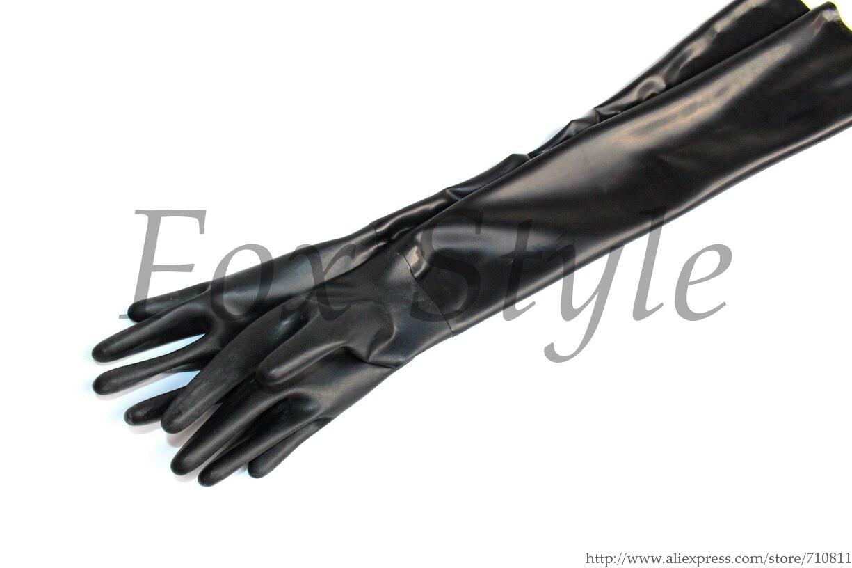 Black latex gloves xl - Black Latex Long Gloves Length More Than 50cm China Mainland