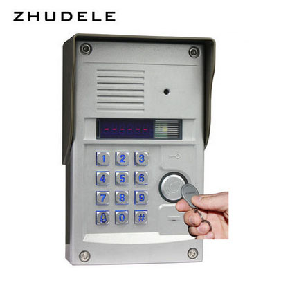 ZHUDELE Top quality 6-apartments intercom system home security audio door phone kits 008A+327R outdoor station with password