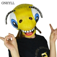 GNHYLL Funny Collection COS Heist Bees Mask Latex Halloween Party Cosplay Carton Bee Face Mask Props Fancy Dress