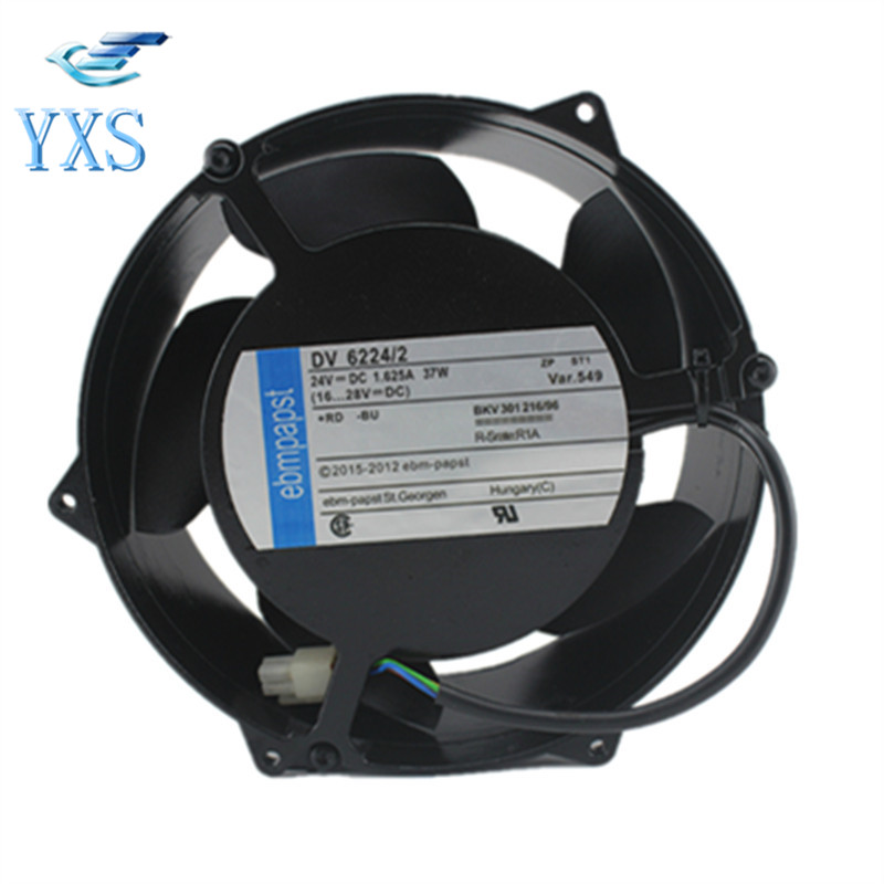 DV 6224/2 DC 24V 37W 4300RPM 17251 17CM 172*150*51mm ABB Inverter Cooling Fan delta new efb1548vhg 17251 17cm 48v 0 83a circular drive cooling fan for 172 172 51mm