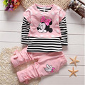 Clearance processing spring/autumn baby girls clothing sets children 3pcs set kids cotton girls vest+ shirt+pant clothing set
