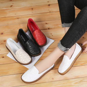 Image 5 - AARDIMI damskie mokasyny kwiatowy prawdziwej skóry przypadkowi płaskie buty kobieta jesień espadryle kobiety Mocassin Femme Zapatos Mujer