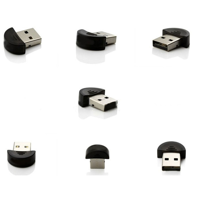 Factory Price Mini USB Bluetooth V2.0 Dongle Adapter for Laptop PC Win Xp Win7 8 iPhone 5GS Headset networking LAN access Z18
