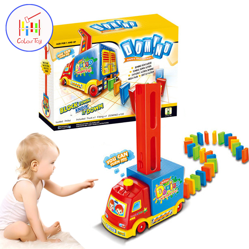 100pcs/set Children Color Sort Rainbow Wood Automatic Domino Electric Puzzle Train Model Toy Educational Building Blocks DIY Toy three s company ru bun lock children puzzle toy building blocks