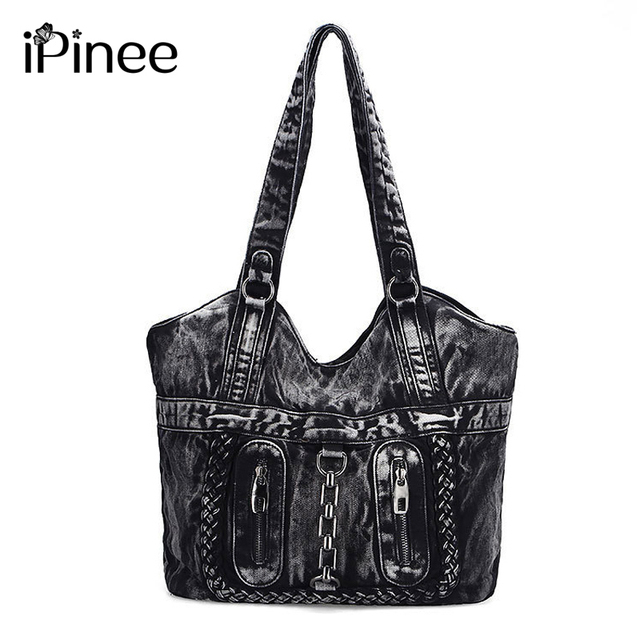 iPinee Large Luxury Handbags Women Bag Designer Ladies Hand bags Big Purses  Jean Tote Denim Shoulder Crossbody Messenger Bag 9b32174de980