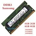 1 gb 2 gb 4 gb 8 gb ddr3 1600 mhz 1333 mhz 1066 mhz para el ordenador portátil samsung PC3-10600S 8500 12800 1G 2G 4G 8G 204 PIN de Memoria RAM