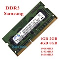 1GB 2GB 4GB 8GB DDR3 1600MHz 1333mhz 1066mhz For Laptop Samsung PC3-10600S 8500 12800 1G 2G 4G 8G 204 PIN Memory RAM