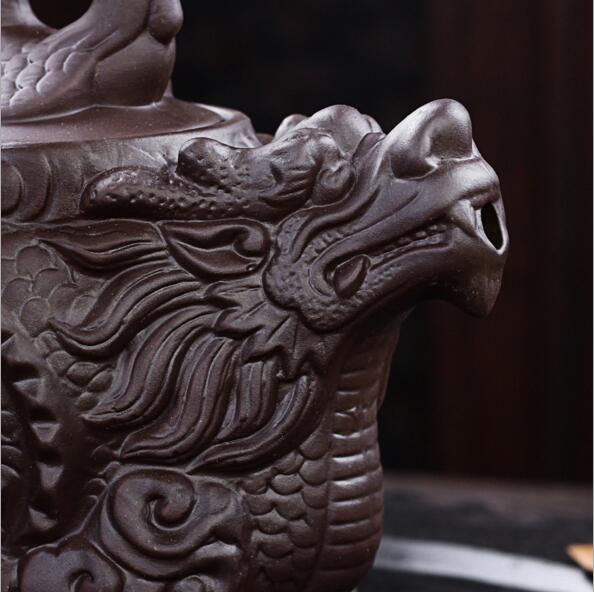 Authentic Yixing Purple Clay Dragon Teapot 2