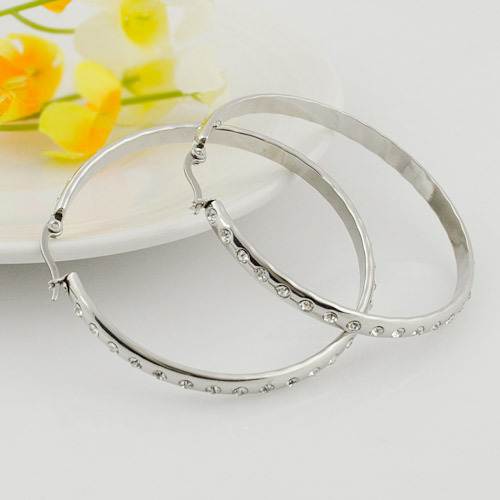 new,2014 New Fashion Rhinestone Hoop Earrings Basketball Wives Jewelry Gift Items wholesale women Accessories,WE216