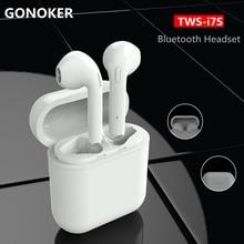 GONOKER i7S-TWS Verdadeiros Gêmeos Fones De Ouvido fones de Ouvido Bluetooth Estéreo Sem Fio Fones de Ouvido Música fone de Ouvido para o iphone X, 8, 7 6 s 6 5S