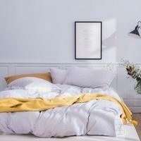 2019 Simple Grey Lines Scandinavian Bedding Set Duvet Cover 4pcs Twin Queen King Flat Sheet Wash Cotton Bedlinens Pillowcases