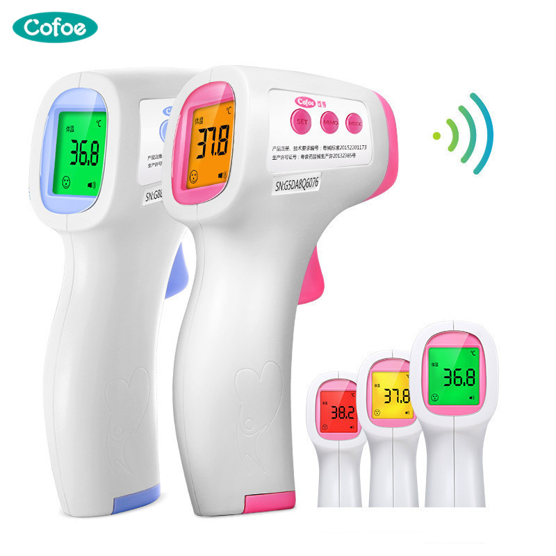 Cofoe Forehead Infrared Thermometer Electronic Non-Contact LCD IR Temperature Measurement Digital Device for Baby все цены