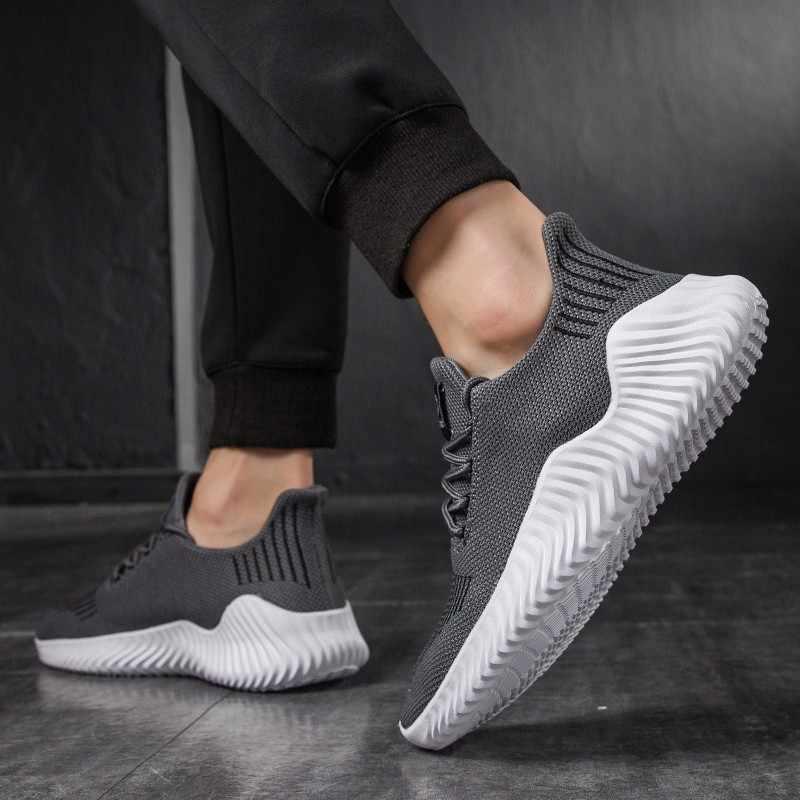 2019 Yaz Nefes Ayakkabı Erkekler Rahat Moda Sneakers Hava Mesh Açık Spor Büyük Boy 13 47 Beyaz Siyah