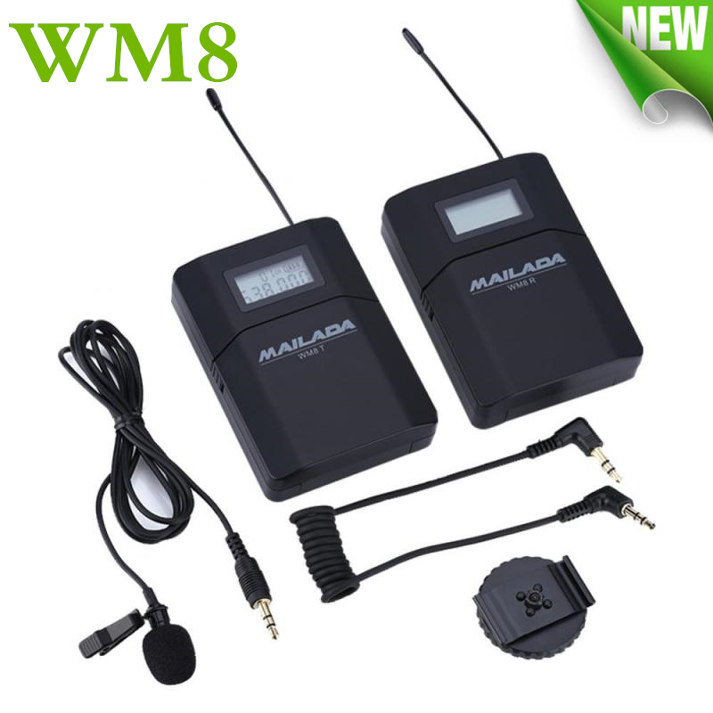 wm8 professional uhf wireless microphone system lavalier lapel mic receiver transmitter for. Black Bedroom Furniture Sets. Home Design Ideas