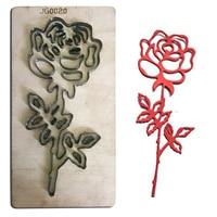 Estel Rose Flower Wood Cutting Dies Stencil 2019 New Wood+ Metal Laser Cutter Die Embossing Craft Taglio del legno