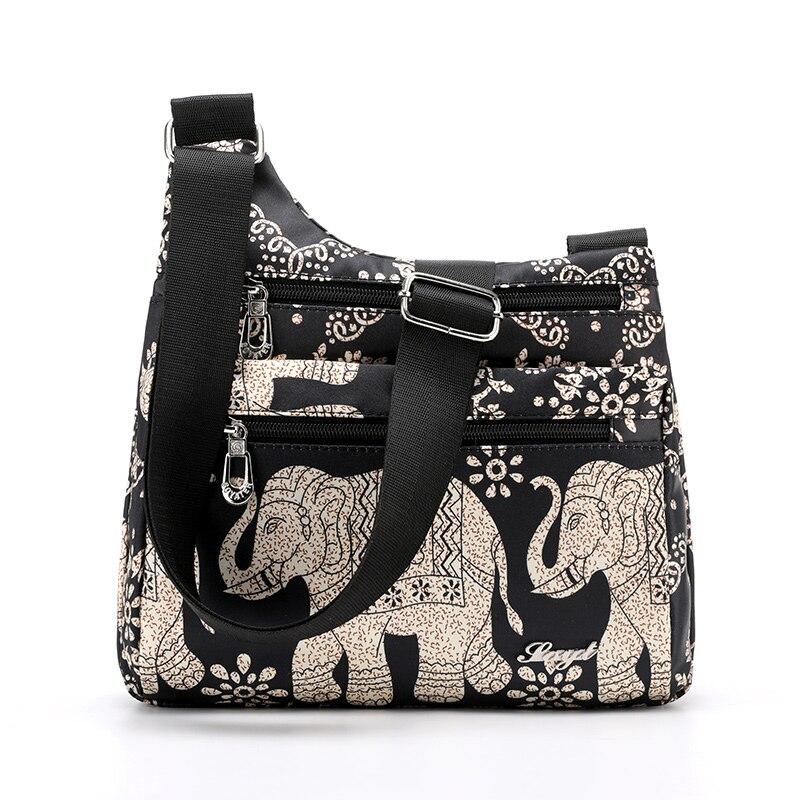 Woman Waterproof Nylon Flowers Bag Shoulder Bags For Woman 2019 Summer New Messenger Bag Female Crossbody Bag Handbag Bolsa
