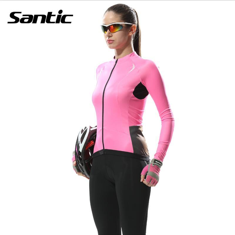 Santic 2018 MTB Autumn Women Long Sleeve Cycling Jersey Clothing/ Pro Team Mountain Road Triathlon Wear Bicycle Shirt Bike santic autumn winter women winter cycling set bicycle jacket padded pants pro team cycling clothing mtb bike long jersey set