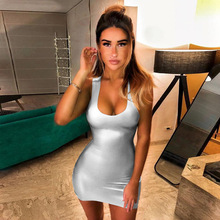 vestidos Low-cut summer dress women Solid Color Backless bodycon Sexy slim Spaghetti straps club streetwear цена 2017
