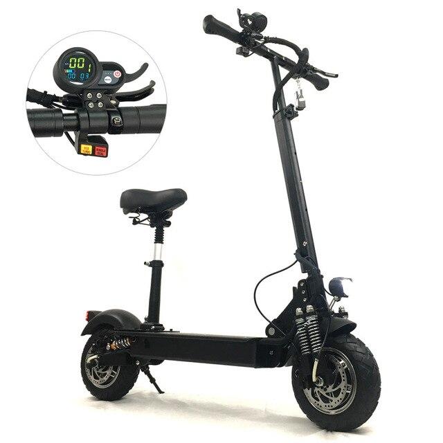 FLJ 2400 Вт Электрический скутер для взрослых с сиденьем складной Ховерборд fat tire электрический самокат e скутер
