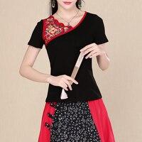 KYQIAO Plus Size Women Clothing 2018 Ethnic Shirt Female Summer M 5xl Mexico Style Black Red