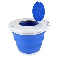 Novo balde de plástico dobrável balde pesca balde portátil ao ar livre viajando bait baldes com tampa fk88