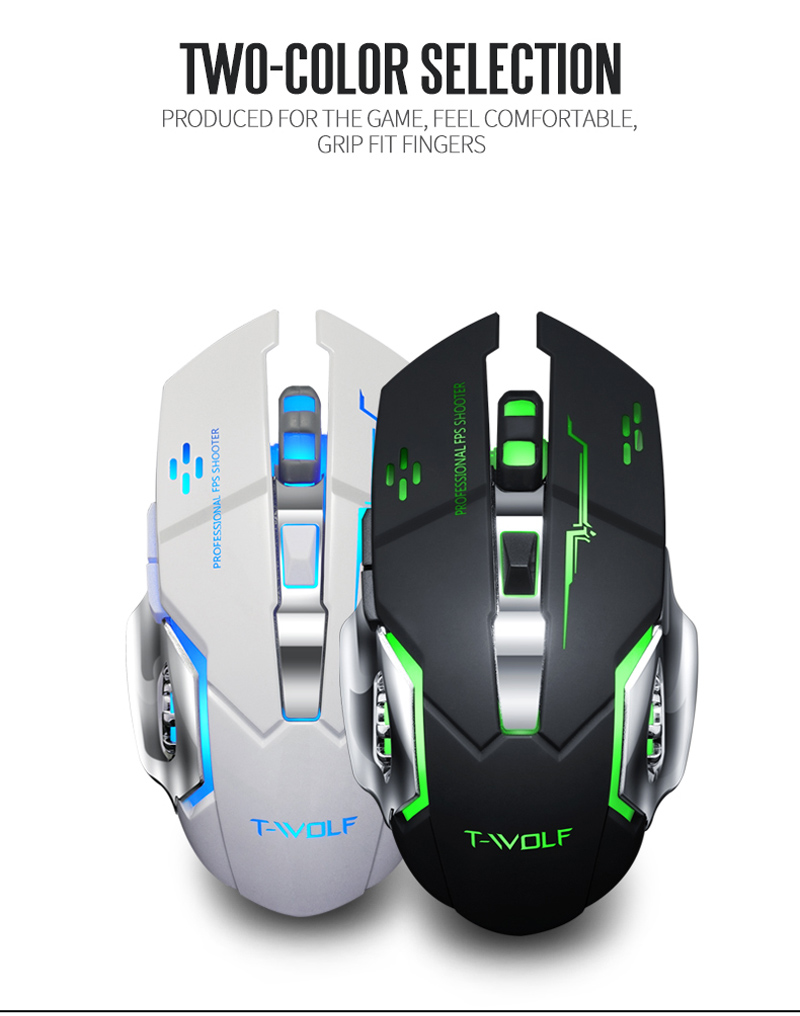 T-WOLF Q13 Rechargeable Wireless Mouse  (10)